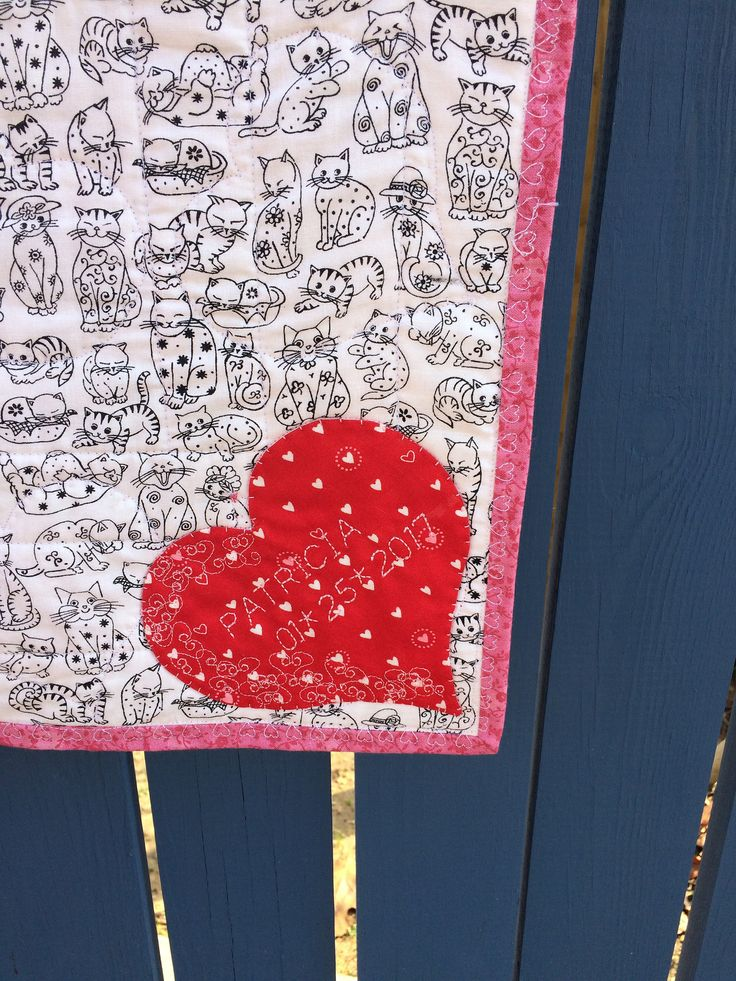 https://flic.kr/p/QwzAkC   Quilt Label   Mini Quilt Label Valentine Kitty Quilt