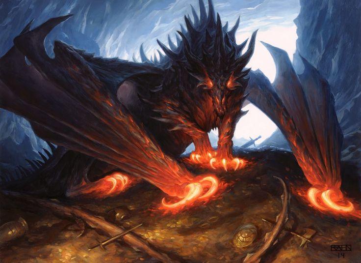 E621 garras chris_rahn dragão chifre calor magic_the_gathering escalas asas de solo