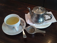 Japanese style green tea grown in Australia. Presented with teapot, infuser, teacup, saucer and teaspoon.  www.16onpark.com.au