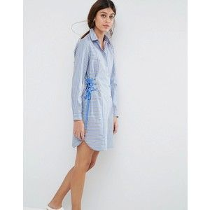 ASOS Striped Shirt Dress with Corset Detail