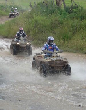 Oh yes!! ATV!!  Sand, Mud or Water!