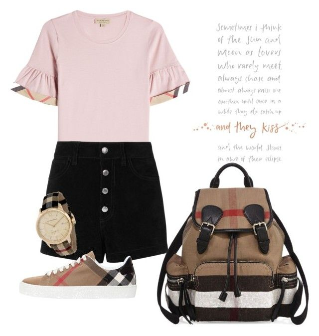 """""""School style with Burberry"""" by pitaa29 on Polyvore featuring Burberry and rag & bone/JEAN"""