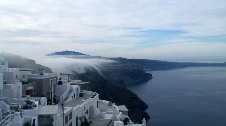 Santorini Greece....early morning fog selected by www.oiamansion.com