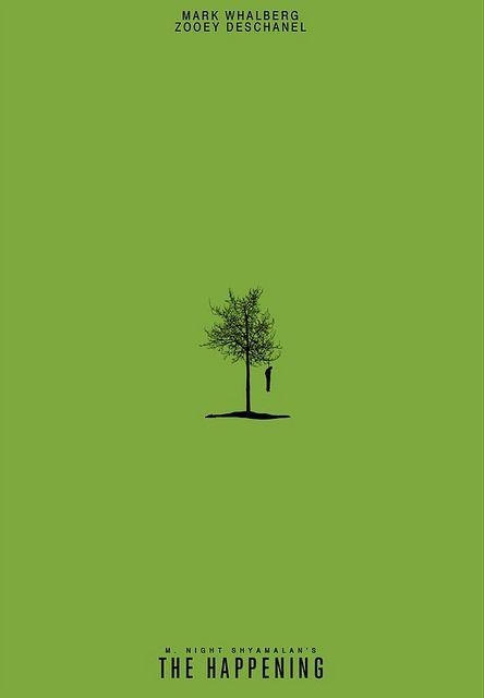 The Happening minimalist movie poster by James Random