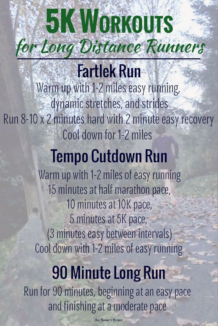 Long distance runner diet plan