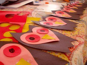 Owl Paper Heart Valentines