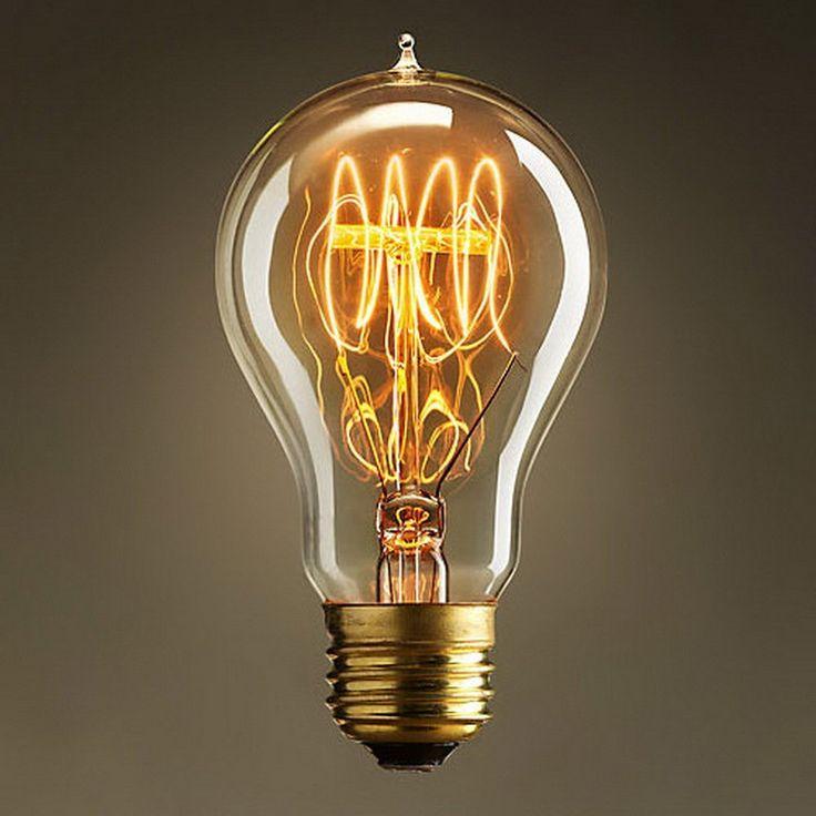 Lampadina Edison 60W - Goccia 60mm Vintage Industriale E27 - The Retro Boutique ®: Amazon.it: Illuminazione