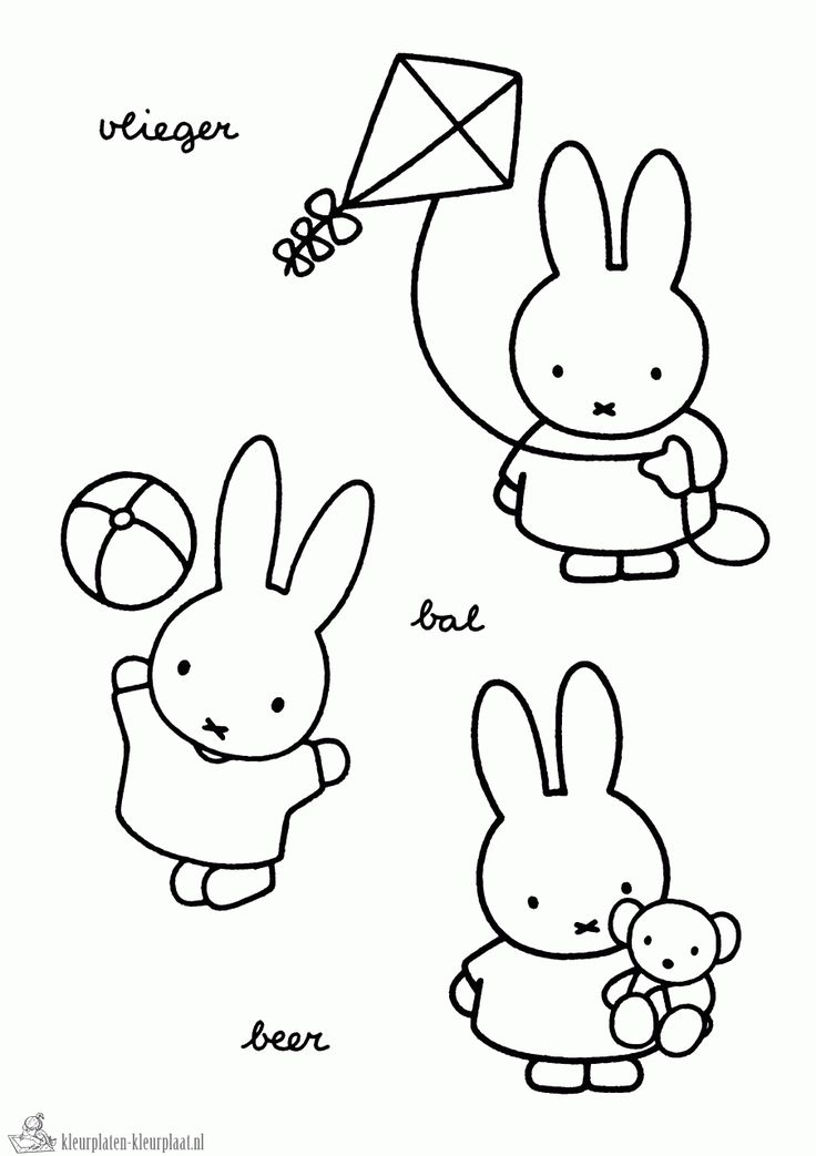 178 best Nijntje images on Pinterest | Miffy, Bunny and Templates