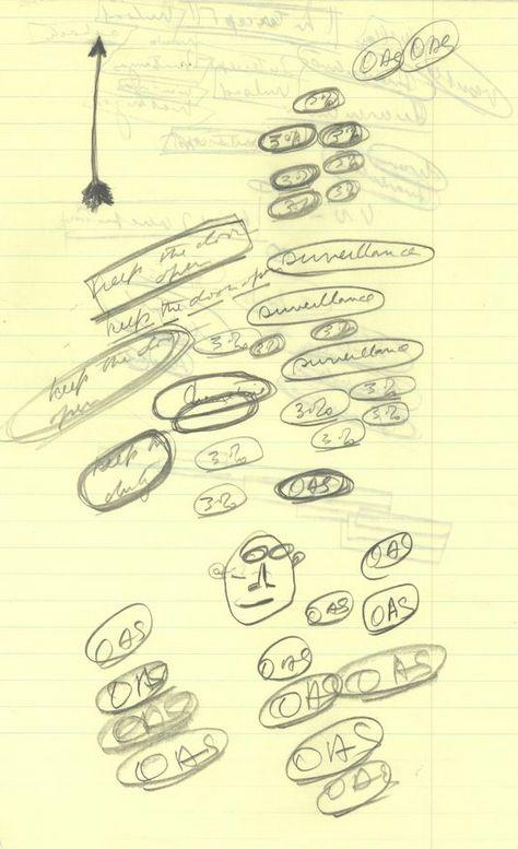 """OAS"" ""OAS"" ""OAS"" | 11 Fascinating Doodles JFK Drew During The Cuban Missile Crisis"