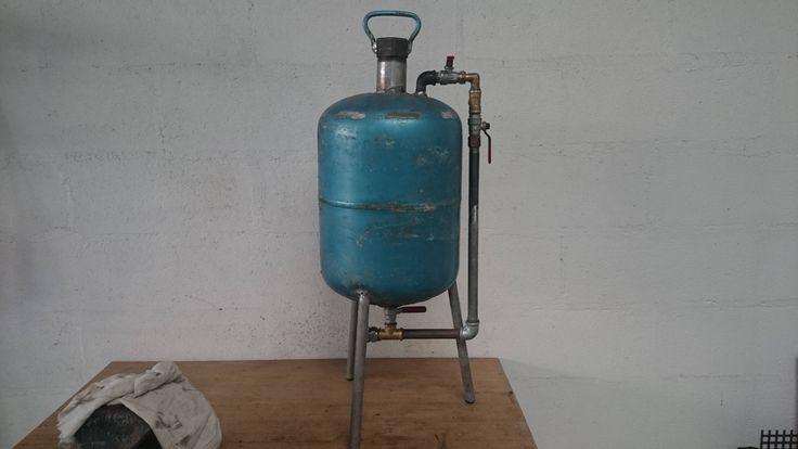 Fabriquer une sableuse artisanale avec bouteille gaz