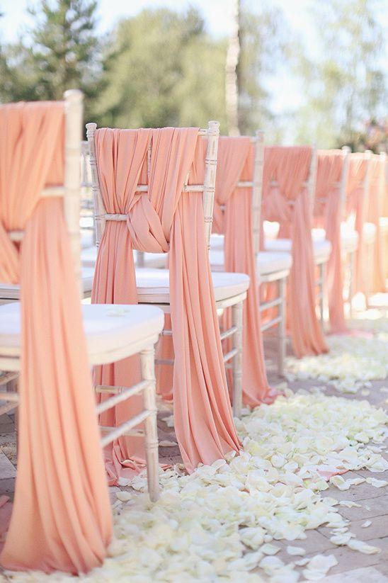 pink chair sash @weddingchicks