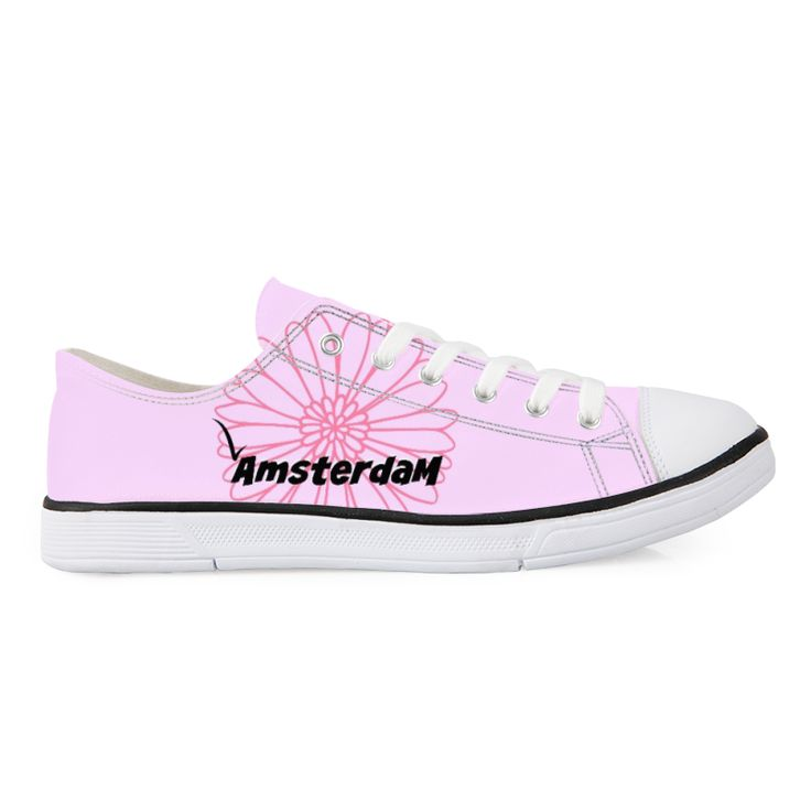 Pink Amsterdam Canvas shoes. Low top canvas shoes designed by Brigitte B. You can order these low-top canvas shoe at: https://www.forudesigns.com/shop/Shoes/Canvas_Shoes/1289790