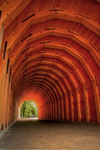 Covered bridge in the area of the Columbia River Gorge ~ Photo by Michael Hatten©