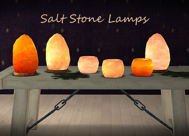 Salt Stone Lamps.  Not sure if cave people had these, but they look like nice sculptures to have in one's cave.