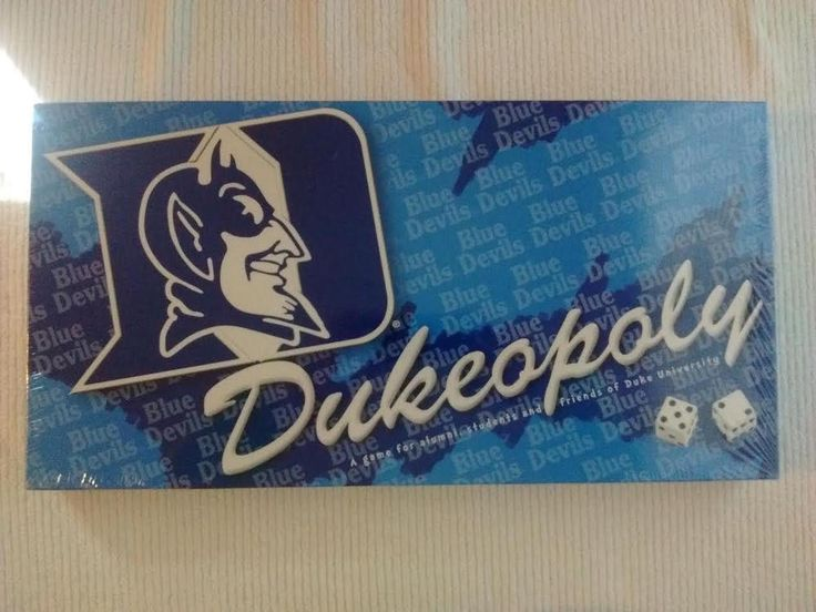 """Duke University """"Dukeopoly"""" By Late For The Sky NEW #LatefortheSky"""
