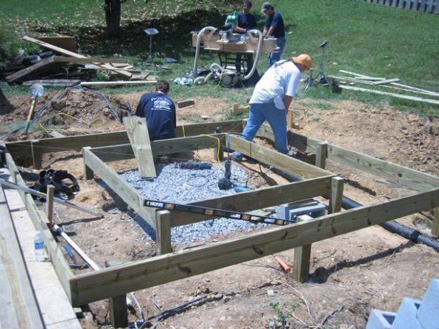 DIYNetwork.com experts install a deck that will properly support the weight of a hot tub.