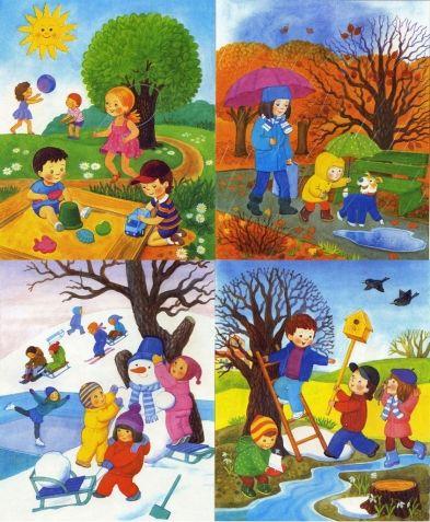 Изучаем времена года и их особенности - Поделки с детьми | Деткиподелки