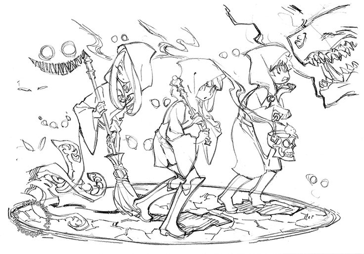 "artbooksnat: "" Little Witch Academia (リトル ウィッチ アカデミア) Yoh"
