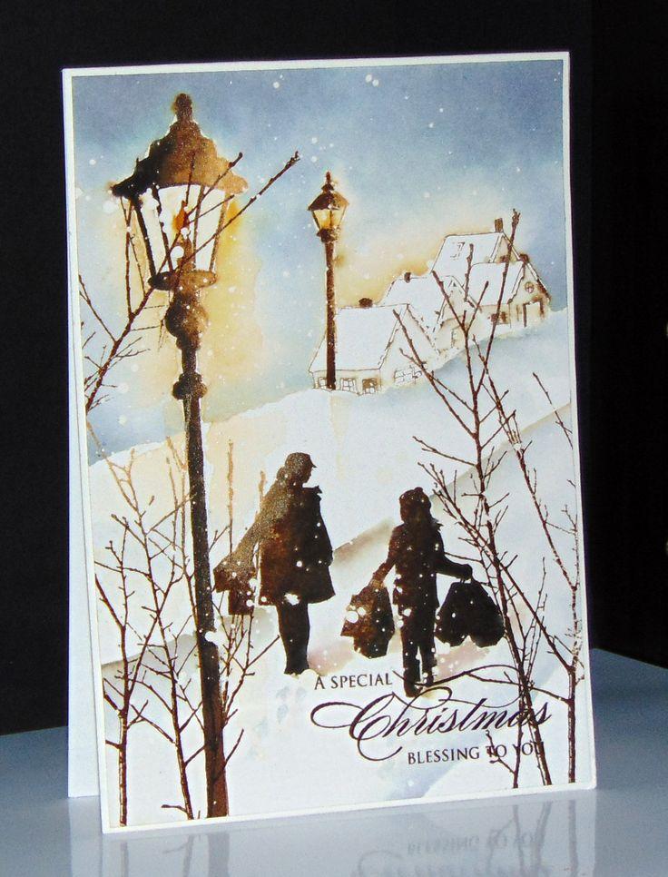 Cones & Berries, Into the sky, In the town, Festive cheer et Village Christmas de Penny Black par Micheline 'Mimi' Jourdain