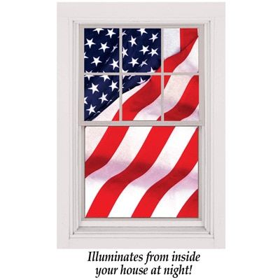 Now's the time to work together, not repeat the worst parts of the past. Patriotic American Flag Window Poster