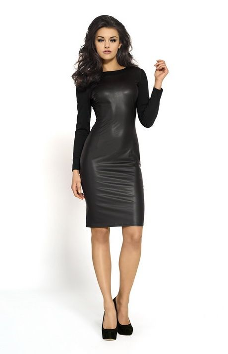 Robe cuir noire   Leather dresses   Pinterest   Robe cuir, Robe ... ccaacea62a3e