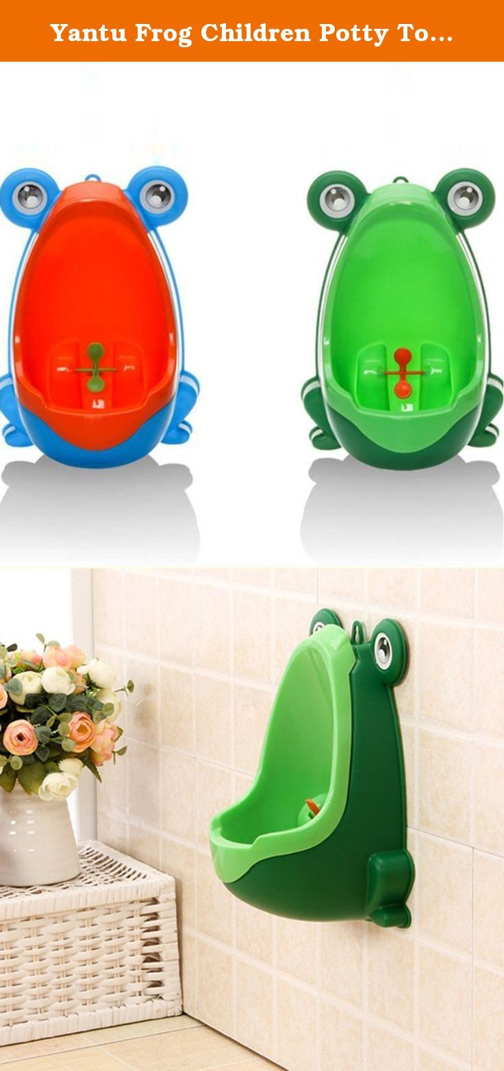 Yantu Frog Children Potty Toilet Training Kids Urinal for Boys Pee Trainer Bathroom (Green). Description: Environmentally friendly material, nontoxic and no peculiar smell . Frog shape and rotating windmill improves your babies' interest. Strong sucker can adjust the height of the item according to baby. Large capacity ensure the urine will not overflow.Urine groove separation design and light surface makes the item easy to clean. Specifications: Materials: PP Size: 29 x 19.5 x 17cm/11.42…