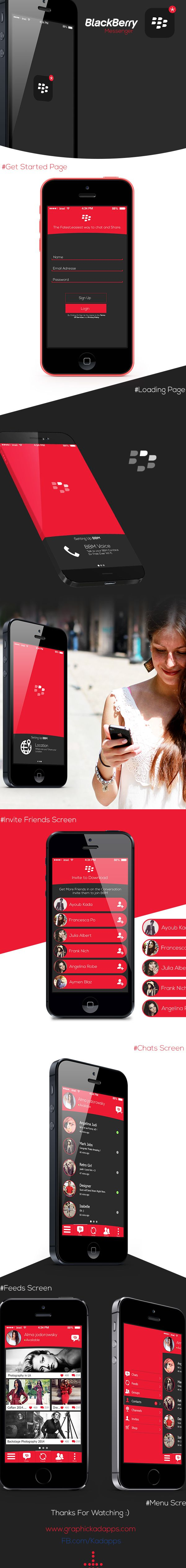 Blackberry Messenger IOS8  by Graphic Kadapps, via Behance