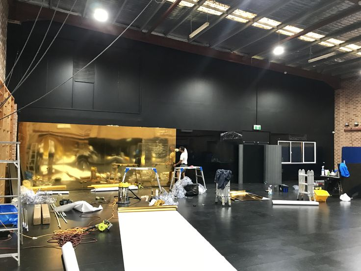 A bit of a break from boats today... Wrapping the wall of a dance studio in gold chrome after lining the wall with aluminium panels