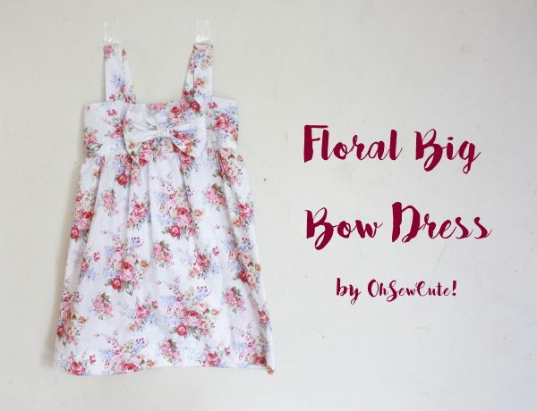 Floral Big Bow Dress