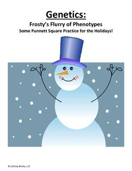Genetics:  Frosty's Flurry of Phenotypes - Punnett Squares - Great idea for a seasonal, rigorous activity for older students - FREE