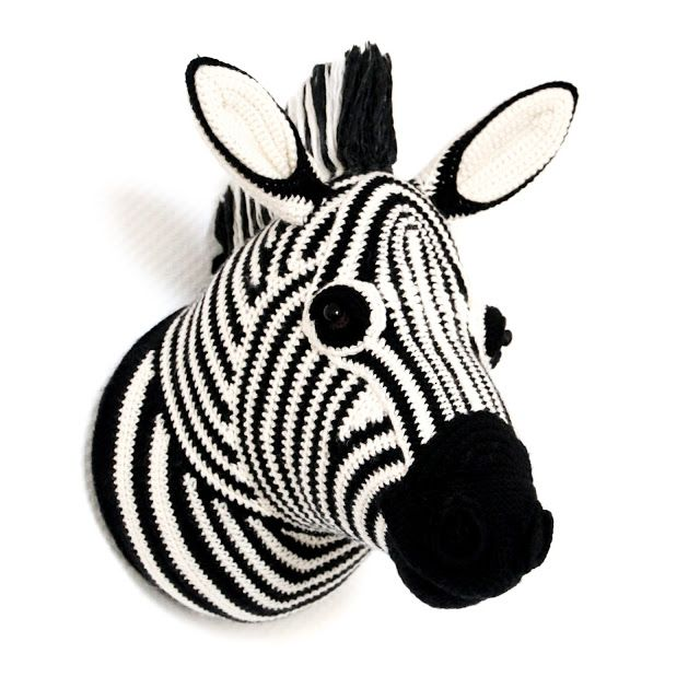 Zebra Head Faux Taxidermy - Boys & Bunting