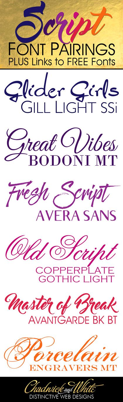 Free script fonts and how to pair them with other fonts