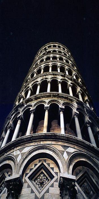 The Leaning Tower of Pisa (Italian: Torre pendente di Pisa) or simply the Tower of Pisa (Torre di Pisa) is the campanile, or freestanding bell tower, of the cathedral of the Italian city of Pisa, known worldwide for its unintended tilt to one side.