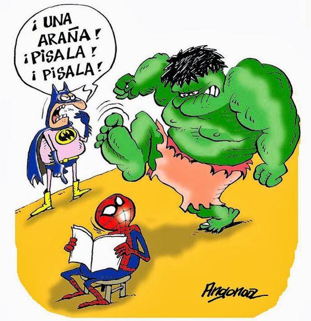 Frases, chistes, anécdotas, reflexiones, Amor y mucho más.: Chiste de Batman, Hulk y el Hombre Araña.