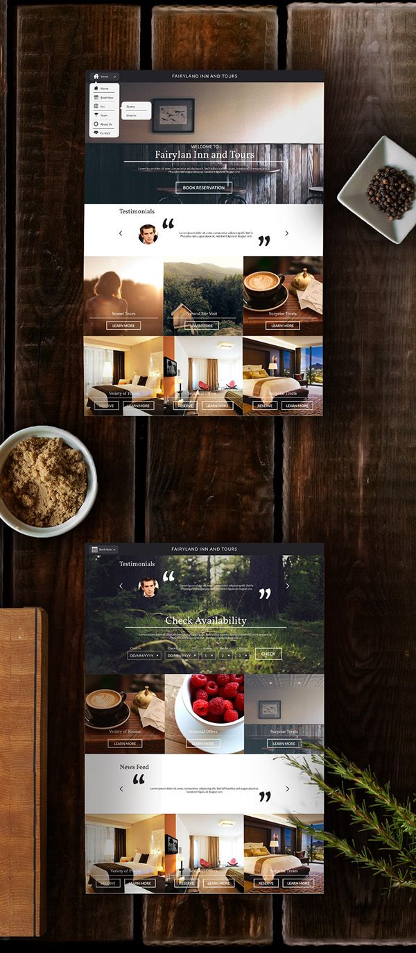 Hotel Website Design on Behance