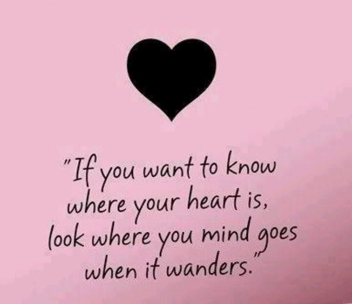Follow Heart Or Mind Quotes: Where Your Mind Wanders.....