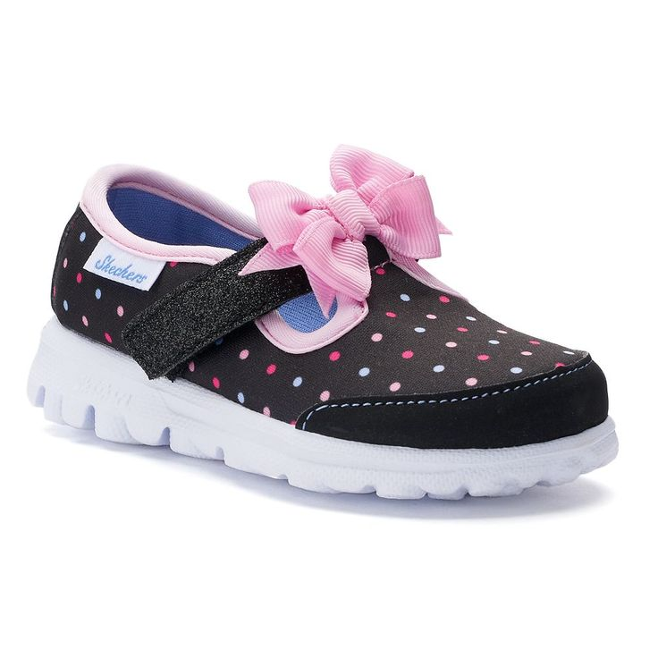 Skechers GOwalk Dotty Dazzle Toddler Girls' Shoes, Size: 10 T, Pink Ovrfl