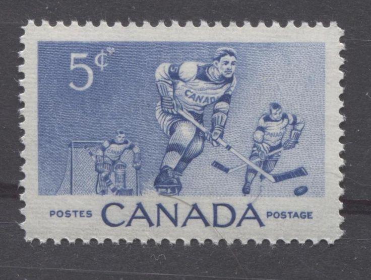 Canada #359 5c Ultramarine 1956 Hockey Players VF 75/80