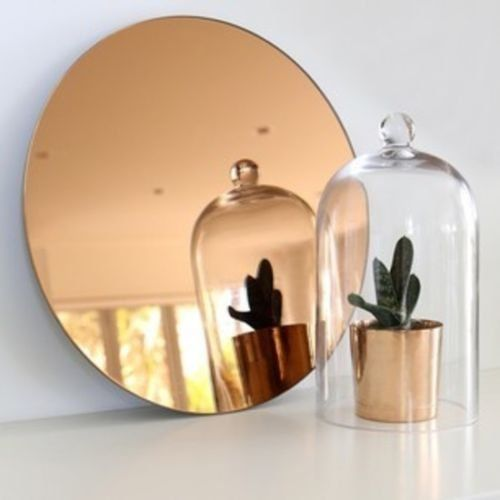 bloomingville round copper glass wall mirror 70cm bloomingville. Black Bedroom Furniture Sets. Home Design Ideas