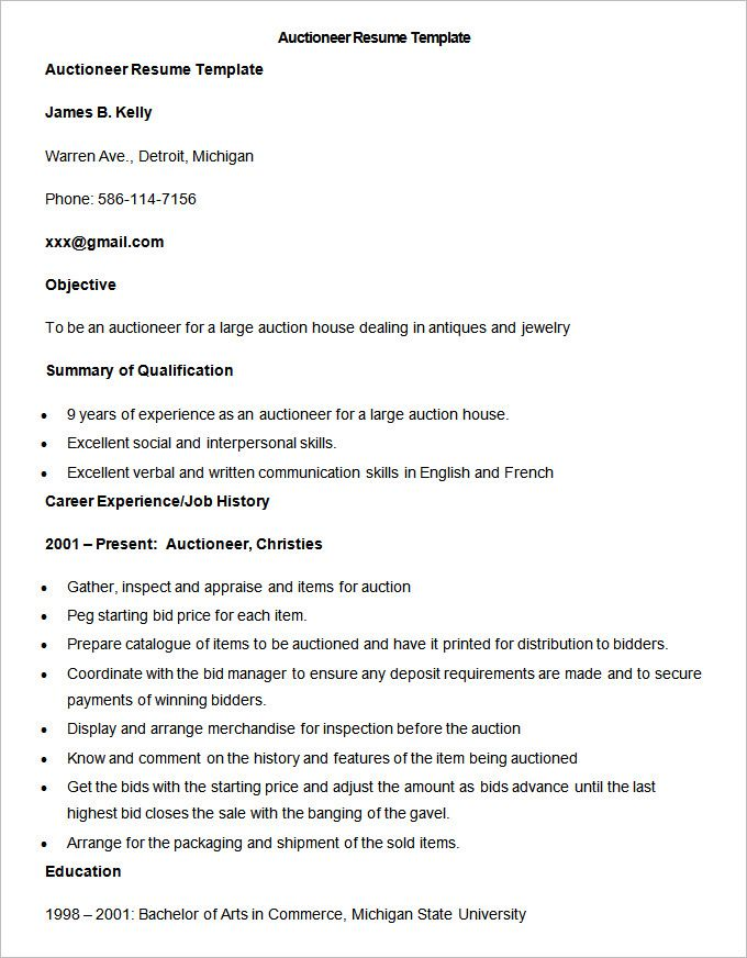 Sample Auctioneer Resume Template , Write Your Resume Much Easier with Sales Resume Examples , Sales resume examples are usually easy to find with various formats and writing methods. Sales resume itself covers wide ranges of sales such as insur...