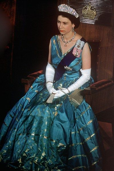 queen elizabeth 2 gowns   Belles of the ball - best ball gowns in pictures - Tatler Magazine