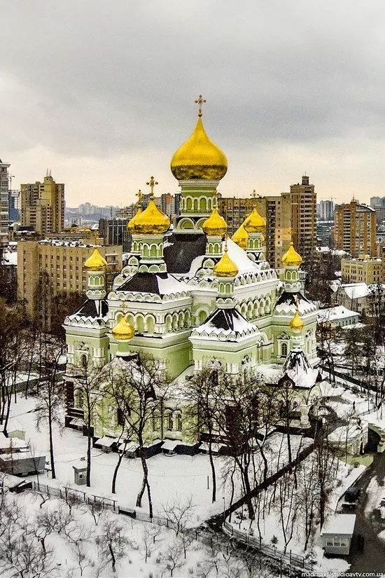 St. Nicholas Cathedral of Pokrovsky Convent in Kyiv, Ukraine