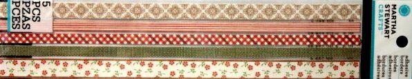 EK Success Martha Stewart Crafts Vintage Fabric Borders Adhesive Stickers