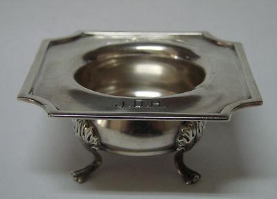 Unusual Gorham Sterling Silver Open Salt Cellar Dish 1914