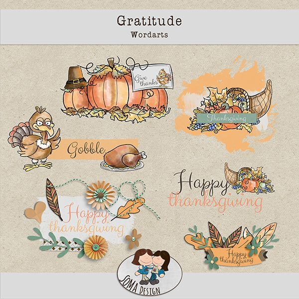 SoMa Design: Gratitude - Wordarts