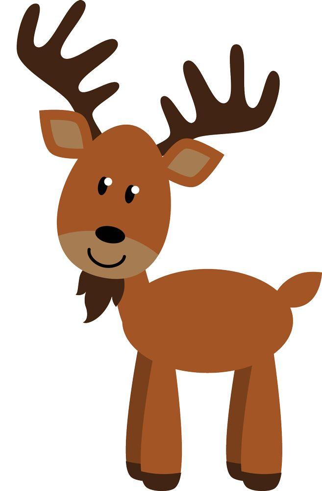 Een fullcolour muursticker van een vrolijk rendier. Combineer met de andere bosdieren en maak je kinderkamer compleet.