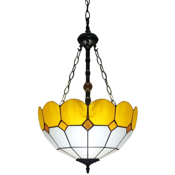 The 25 best yellow chandelier ideas on pinterest teal rooms tiffany stained glass yellow trimmed mediterranean style chandelier 158 liked on polyvore featuring aloadofball Gallery
