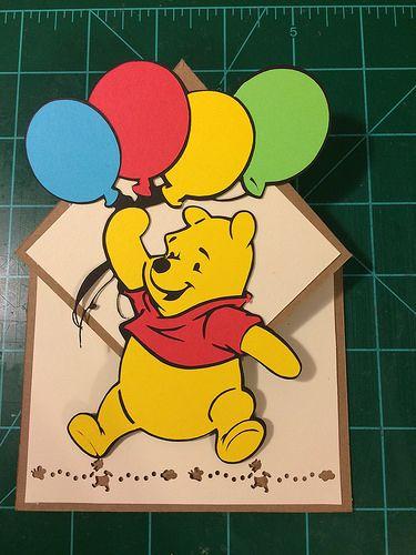 Winnie the Pooh Invitations/ Handmade Winnie the Pooh Invitations/ Punch Art Winnie the Pooh Invitations/ Winnie the Pooh Birthday Invitations/ Winnie the Pooh Baby Shower Invitations