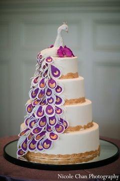 indian wedding cake,indian wedding cakes,peacock wedding cake,peacock Indian wedding ideas inspirations latest trends