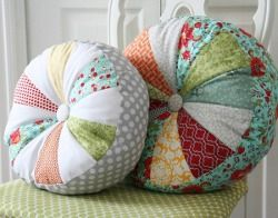 Cute pillows.Depending on what fabrics you use, you can make these go with (almost) any decor